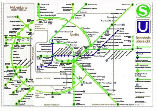 There's Something Missing From This East German Transit Map
